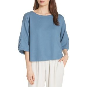 *NEW* Eileen Fisher 'Ballet Neck Box Top Blouse'